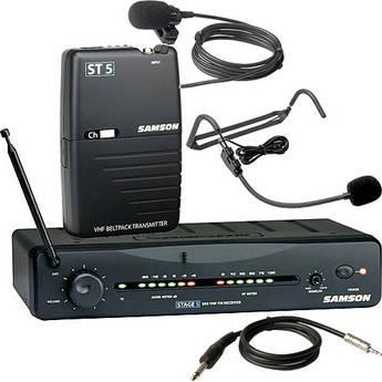 samson stage 5t three in one headset lav guitar vhf wireless system for sale in. Black Bedroom Furniture Sets. Home Design Ideas