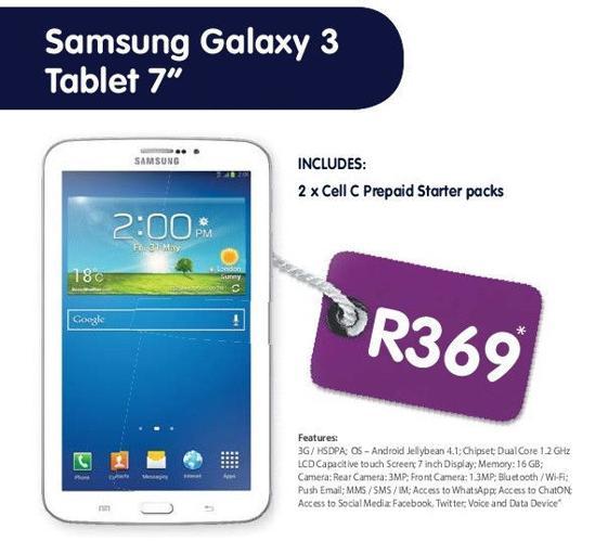 Samsung Galaxy 3 tablet 7