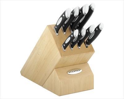 Scanpan Classic Kitchen Knife Block Set 9pce