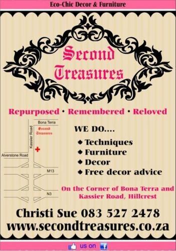 SECOND TREASURES HILLCREST...decor, furniture,