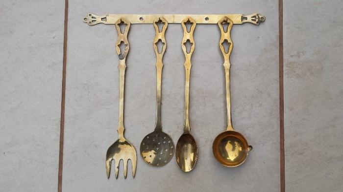 Set of brass utensils.