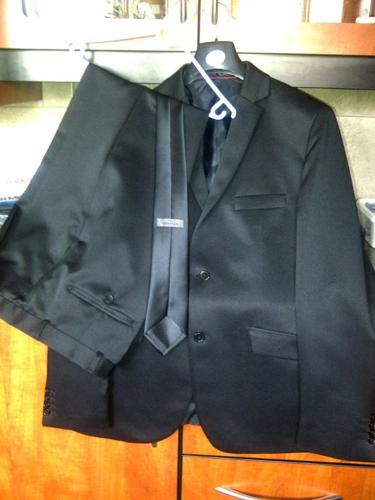 Signature Men's Black Suit + Signature Black Tie