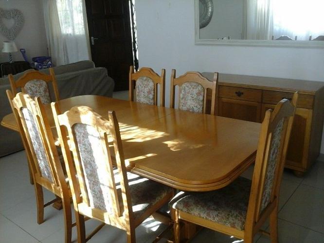 solid oak dining room set for sale in amanzimtoti kwazulu