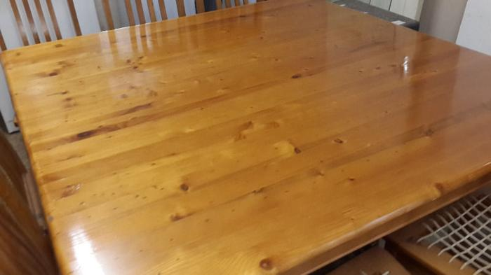 Solid Oregon Pine 8 Seater Dining Room Table With All