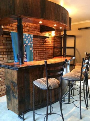 Solid sleeper wood bar for sale in centurion gauteng