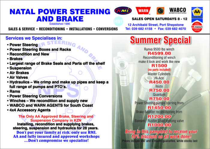 Steering, Brake, Hydraulics, Air Brakes, Winches for Sale in