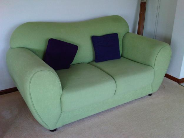 Suede couch for sale in lime green and purple for sale in for Suede couches for sale