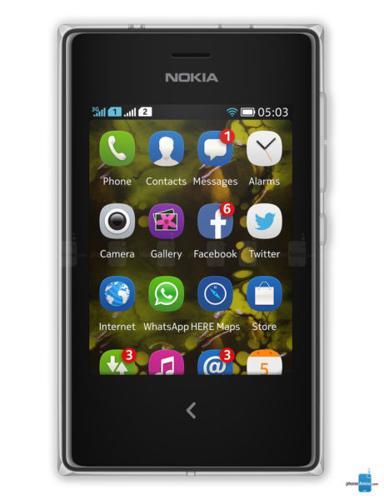 Swart Nokia Asha 503 te koop! soos nuut!