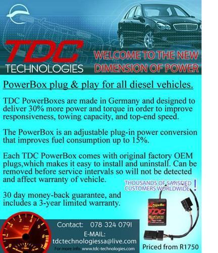TDC POWERBOX FOR ALL DIESEL BAKKIES/CARS/SUV