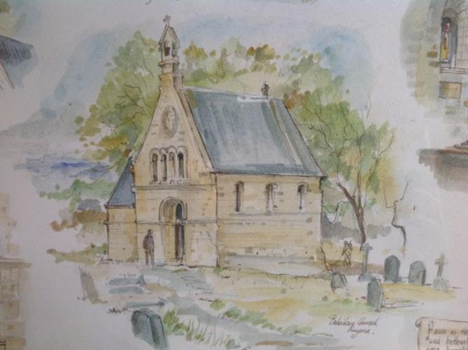 Tony Grogan original painting - Belvidere Church,