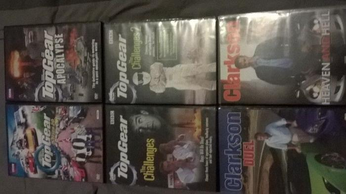 TOP GEAR & CLARKSON DVD COLLECTION LOT OF 6 SETS!