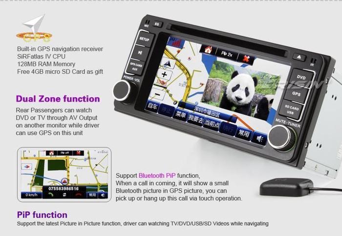 Toyota RunX and Corolla (2003-06) Specia DVD GPS
