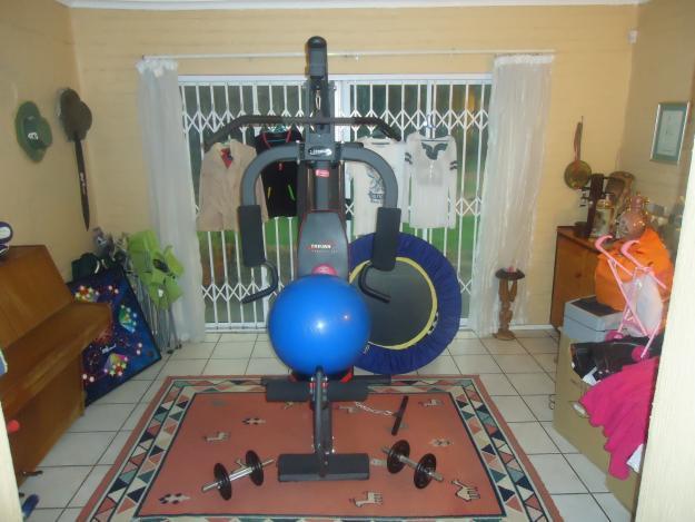 Trojan gym set mini trampoline plus extras for sale in