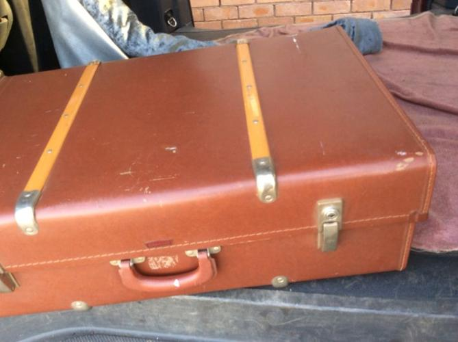 UNIQUE for vintage car lovers, an old auto Suitcase in