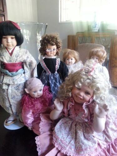 Various Porcelain Dolls