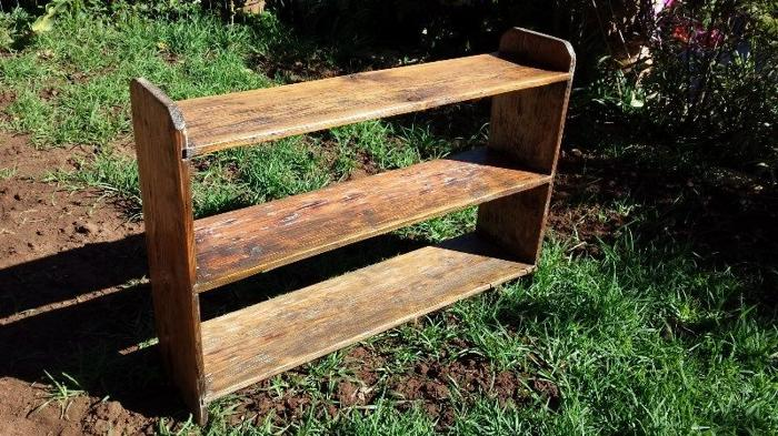 Very old wooden book rack
