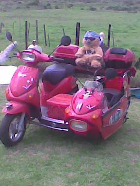 Vispo scooter 50cc with sidecar for sale. Only one in