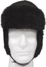 winter cap with flap