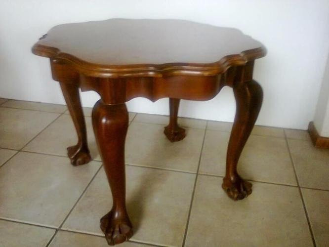 Wooden Ball and Claw Imbuia Table - Negotiable