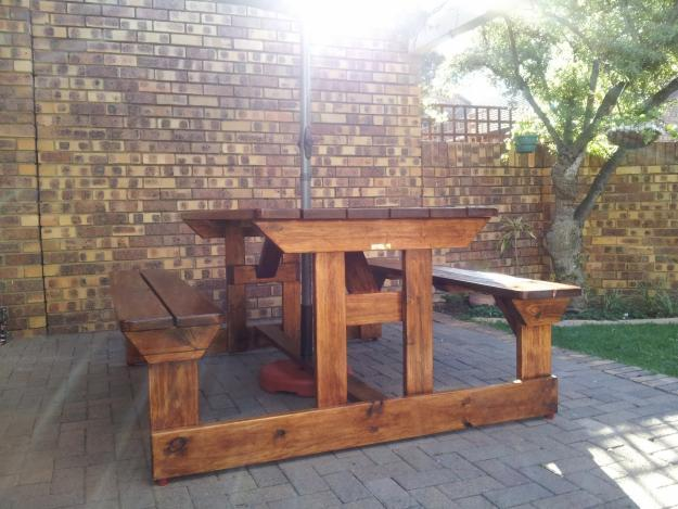 Wooden Benches Pub Patio For Sale In Vanderbijlpark