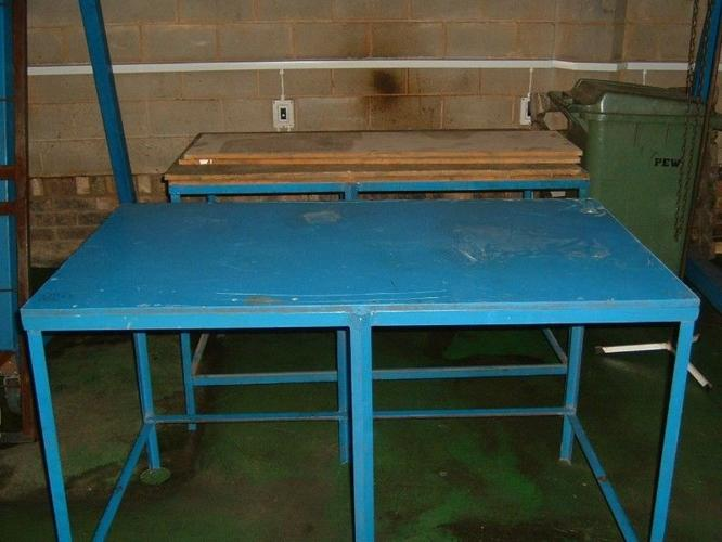 Work benches & steel cabinet for sale