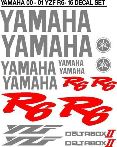 Yamaha 2000 / 2001 R6 sticker vinyl decal kit