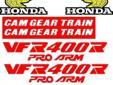 1987 Honda VFR 400R ( Pro - Arm ) decal / sticker