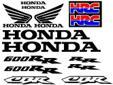 Decal / sticker kit for a 2003 / 04 Honda CBR 600RR Cut
