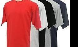 100% Cotton T-shirts available 145g, 180g and Golf