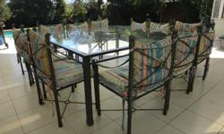 12-Seater Wrought Iron Patio Set. Excellent Condition.