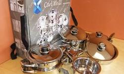 12PC Carl Weil Stainless Steel Pot Set - NEW The