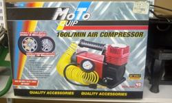 12V Air Compressor 160L complete with all accessories.