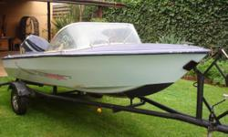 Beskrywing 13 ft boat with good running 40hp yamaha