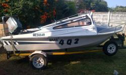 14ft Stinger for sale. 75 mariner auto loop. Spare 75