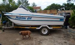 "15'6"" Vidal cat with 2x50hp 3cyl Yammy's, galv trailer"
