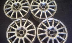 NO TYRES. 15 inch (Set of 4). Fair Condition. (Some