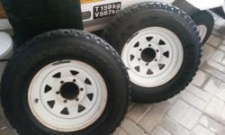 "I have two 15"" epoxy rims available, with 215/15 tyres."