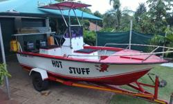 "TRIMCRAFT 16'8"" 2 X 50 HP MARINERS NEW GALVANIZED"