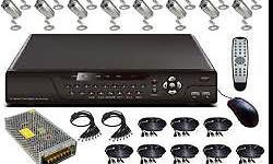 16 Channel DIY Kit consists of: * 16 Channel DVR * 16 x
