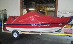 16 Feet Cabin Cruiser and C&M Multicraft trailer for
