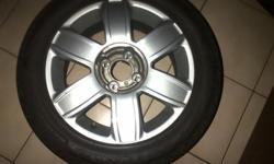 16 inch 6spoke mag wheels , pcd 4x108. Complete set
