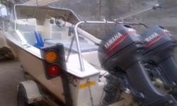 16ft ski craft by Aqua Mall powered by 2x 40hp Yamaha