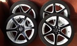 "17"" mags multi pcd with tyres"