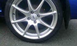 Rims in good condition Brand new tyres No buckles Price