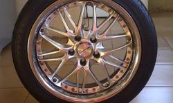 "Beskrywing 17"" Rim for sale together with tyre 80%"
