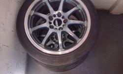 Hi I have 2 17inch rims 5stud with 30% life on it make