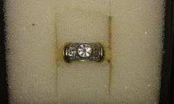 This 18 ct gold & diamond ring is in excellent