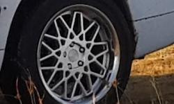 18 inch Mag rims 5/112 for sale with tires 230/55/18