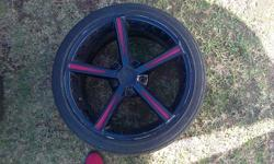 set of 18inch ac schnitzer mags  and tyres black in