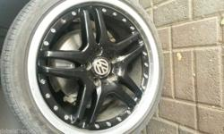 18inch rims and tyres. PCD 112/5. Fits on VWs & Audi.